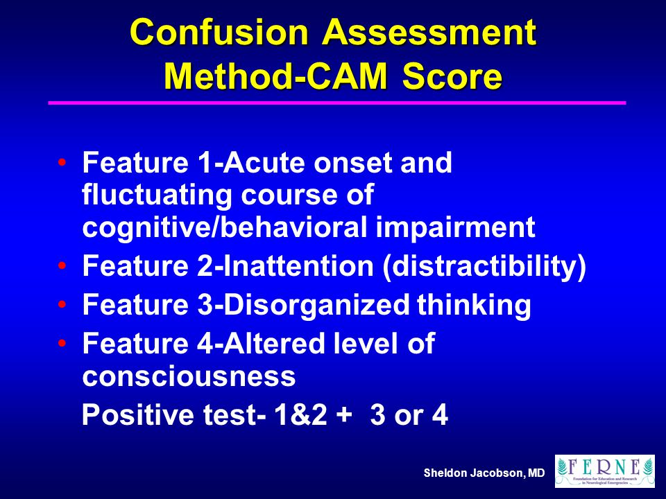 Confusion Assessment Method-CAM Score