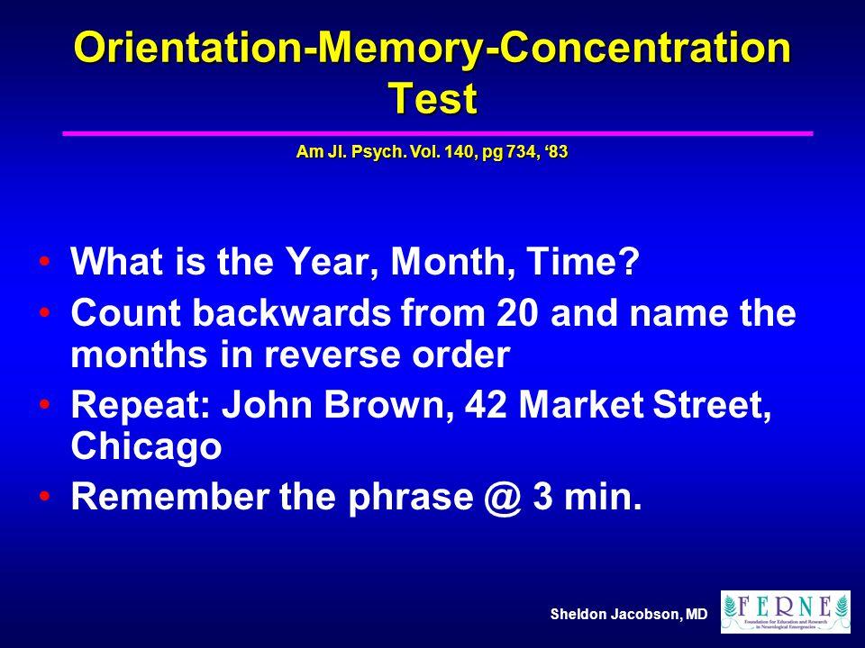 Orientation-Memory-Concentration Test