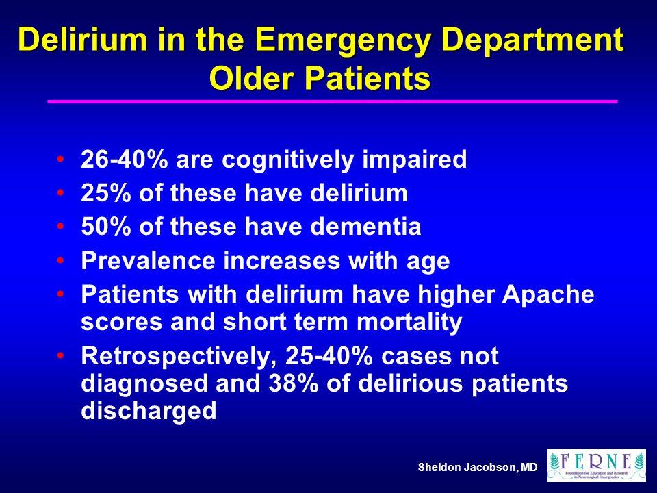 Delirium in the Emergency Department Older Patients