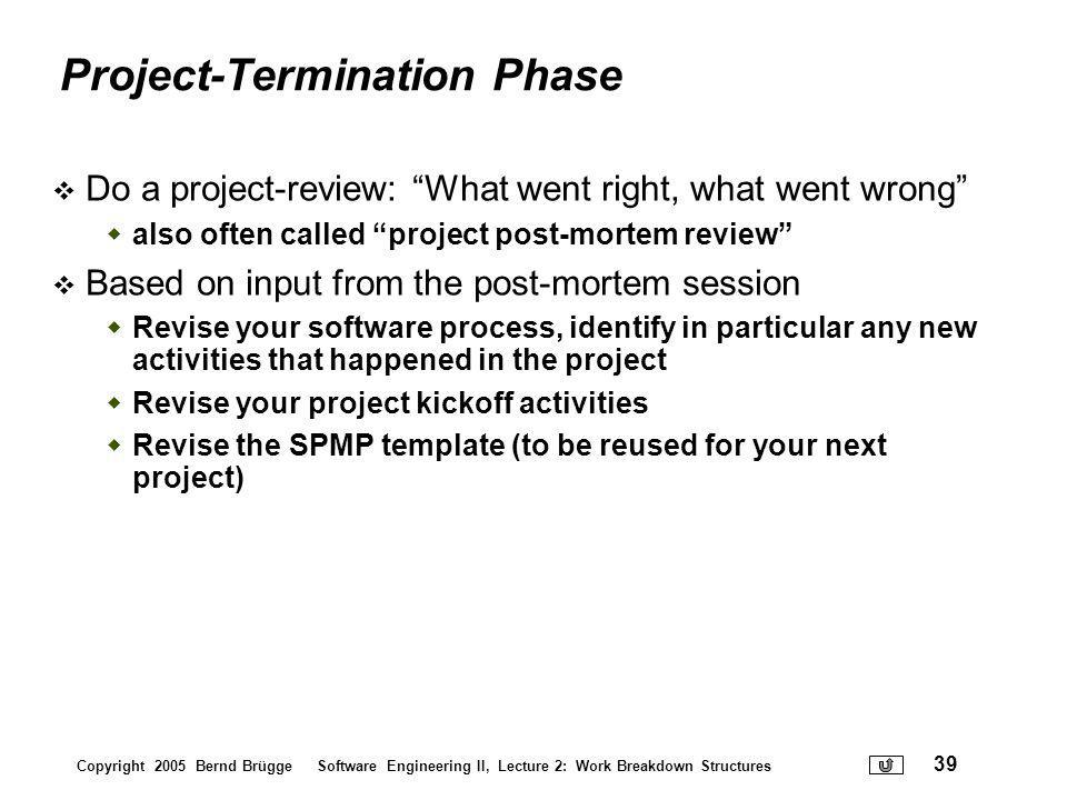 Project-Termination Phase