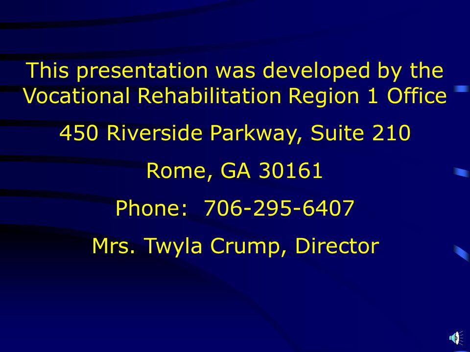 450 Riverside Parkway, Suite 210 Rome, GA 30161 Phone: 706-295-6407