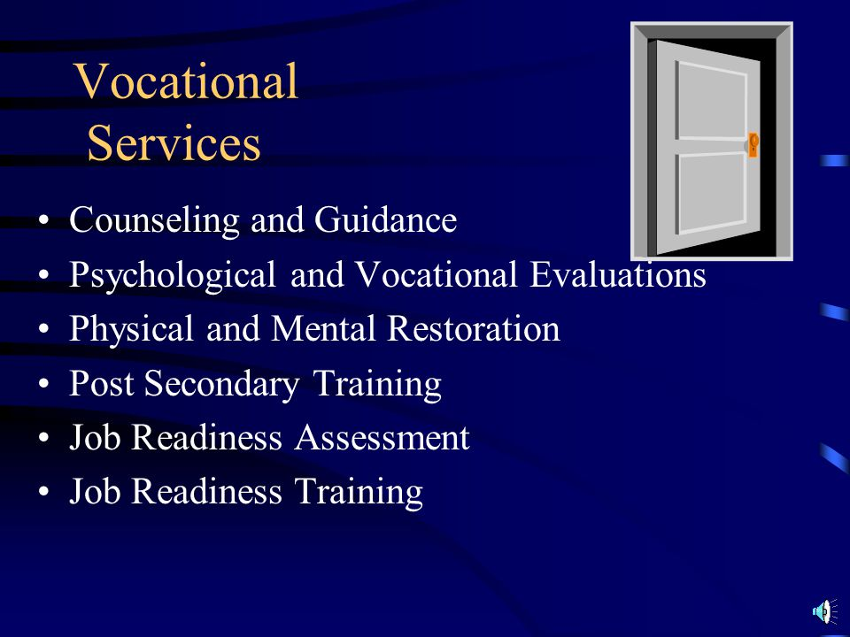 Vocational Services Counseling and Guidance