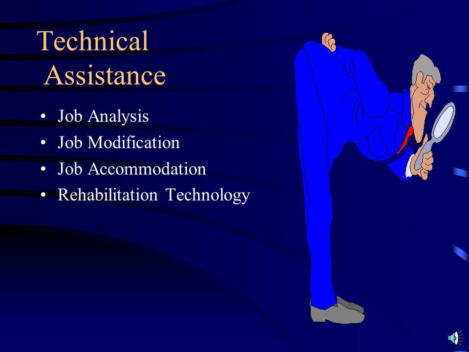 Technical Assistance Job Analysis Job Modification Job Accommodation
