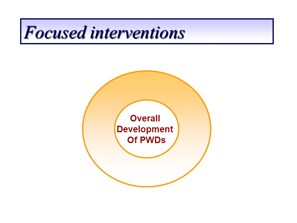 Focused interventions