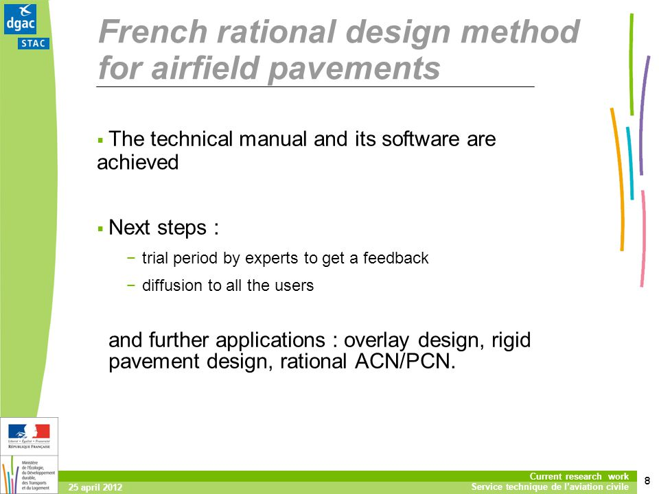 French rational design method for airfield pavements