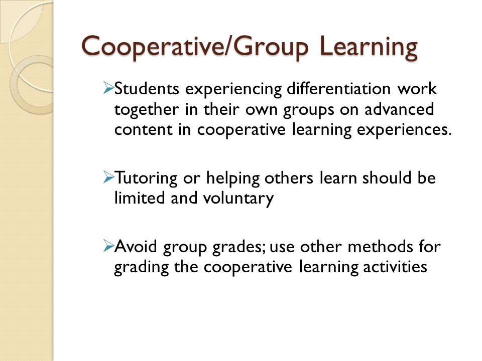 Cooperative/Group Learning