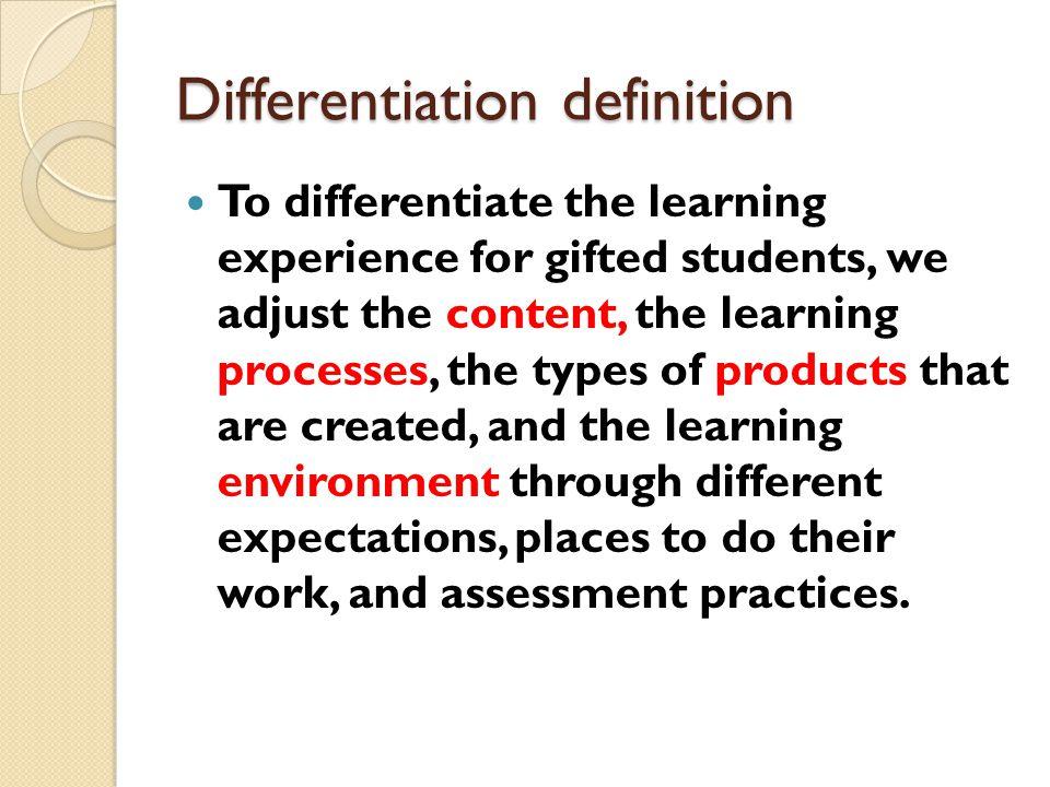 Differentiation definition