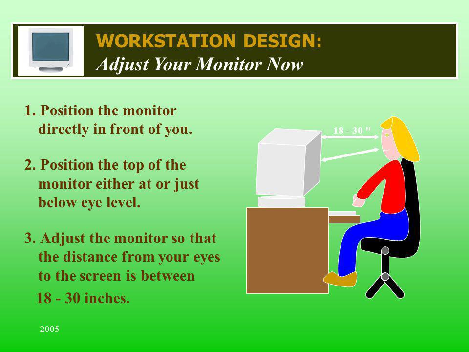 Adjust Your Monitor Now