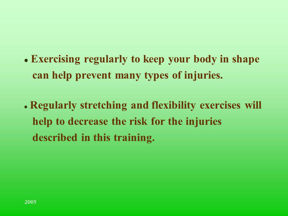 Exercising regularly to keep your body in shape