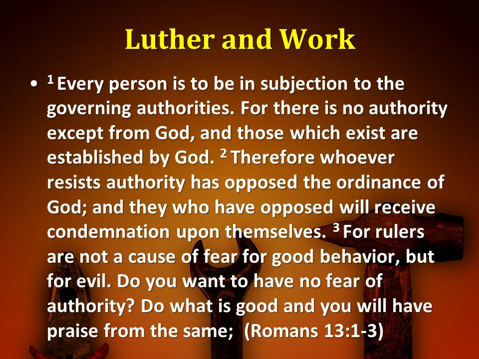 Luther and Work