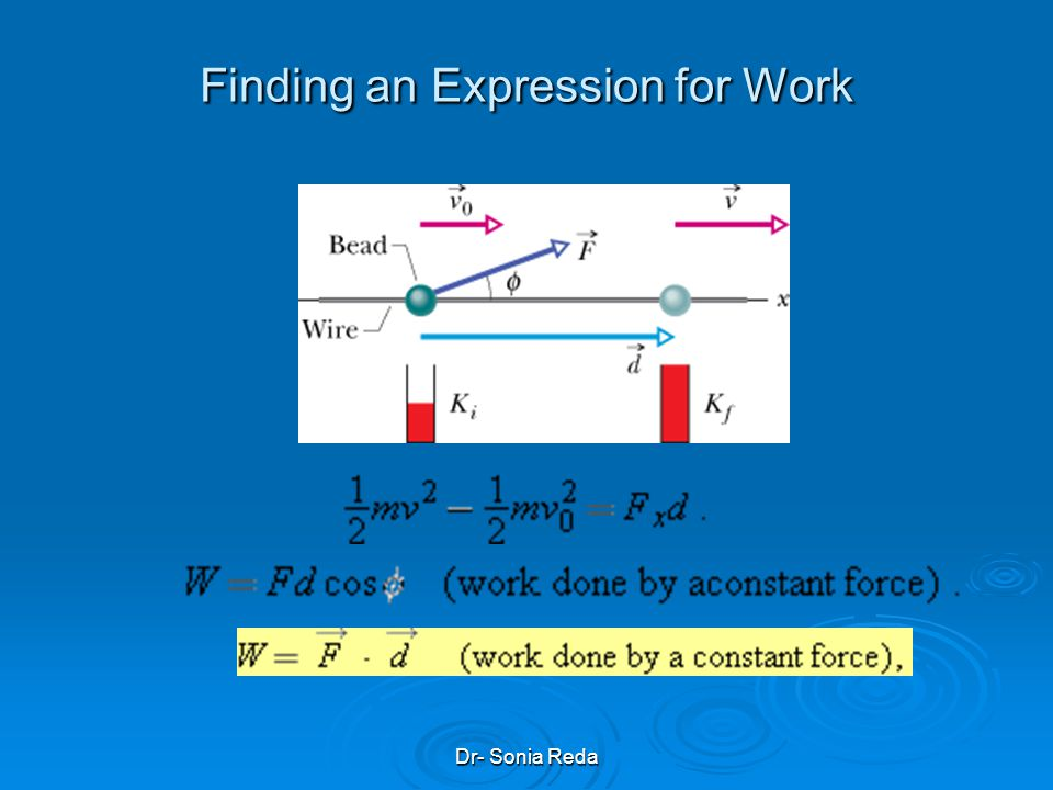Finding an Expression for Work