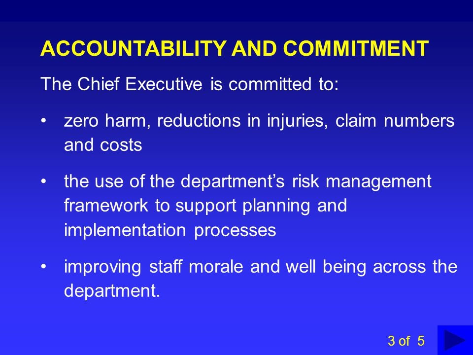 ACCOUNTABILITY AND COMMITMENT