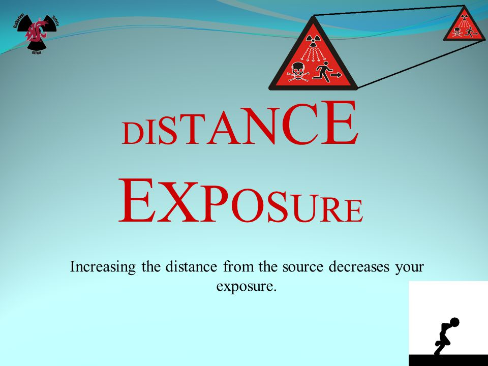 Increasing the distance from the source decreases your exposure.