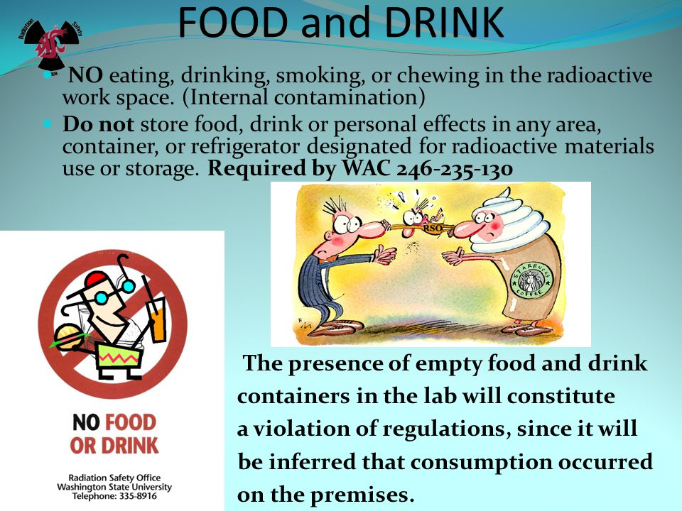 FOOD and DRINK The presence of empty food and drink