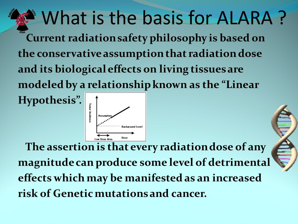 What is the basis for ALARA