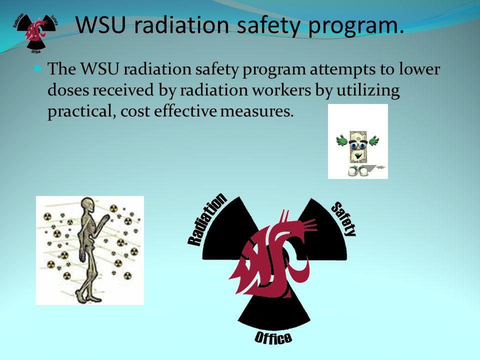 WSU radiation safety program.
