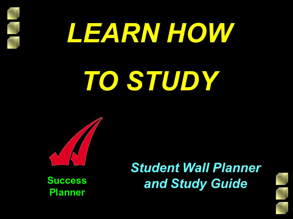 LEARN HOW TO STUDY Student Wall Planner and Study Guide Success