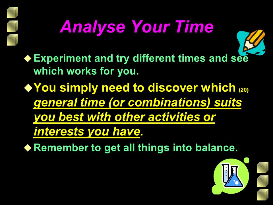 Analyse Your Time Experiment and try different times and see which works for you.