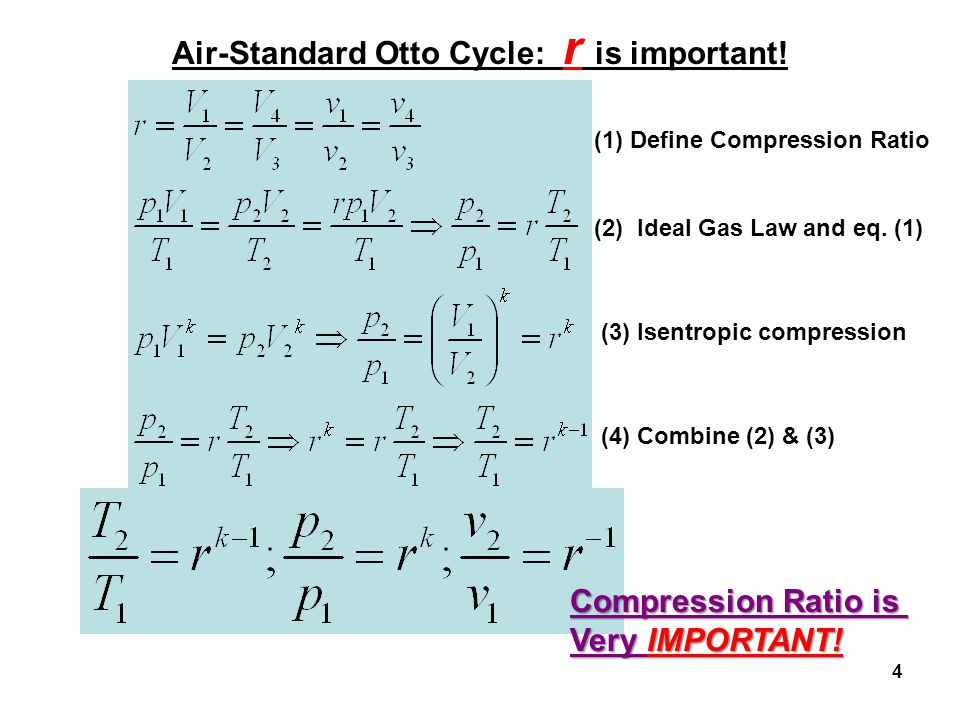 Air-Standard Otto Cycle: r is important!