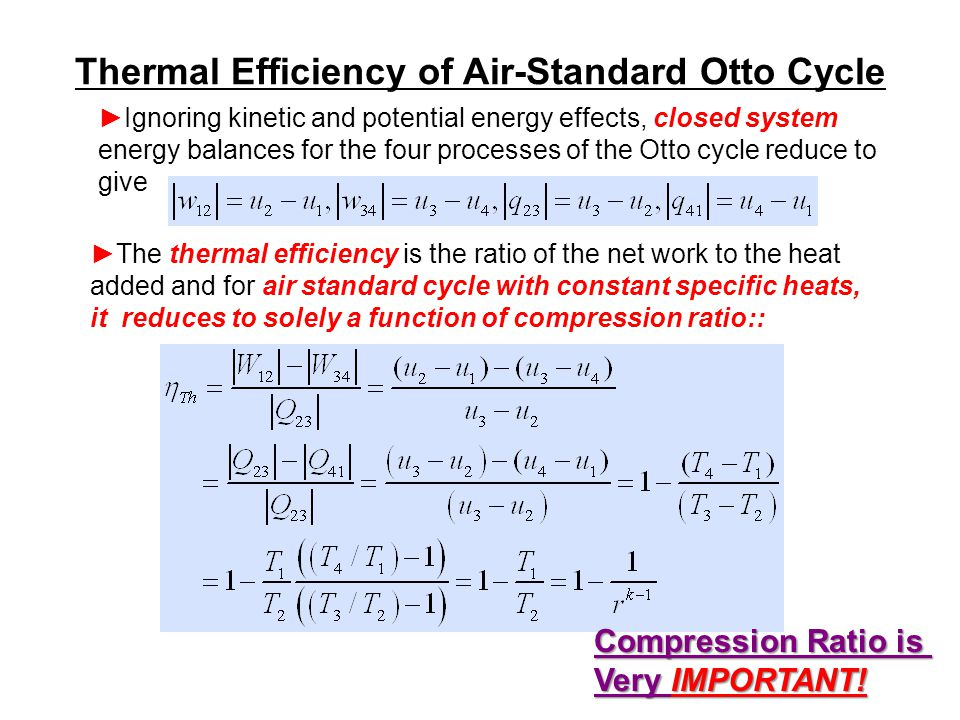 Thermal Efficiency of Air-Standard Otto Cycle