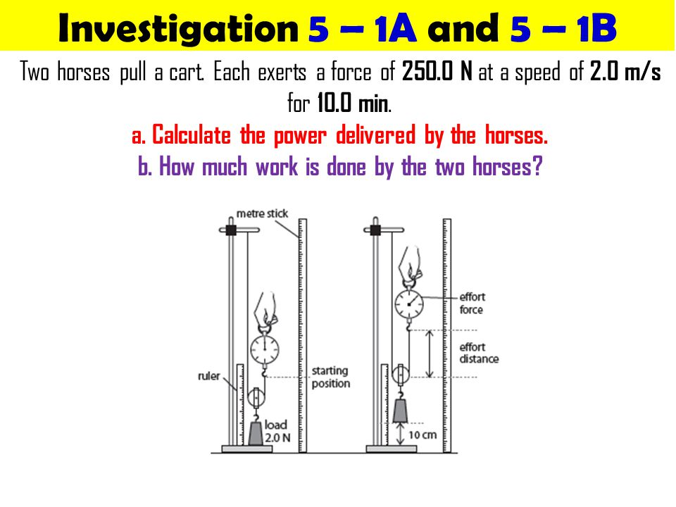 Investigation 5 – 1A and 5 – 1B