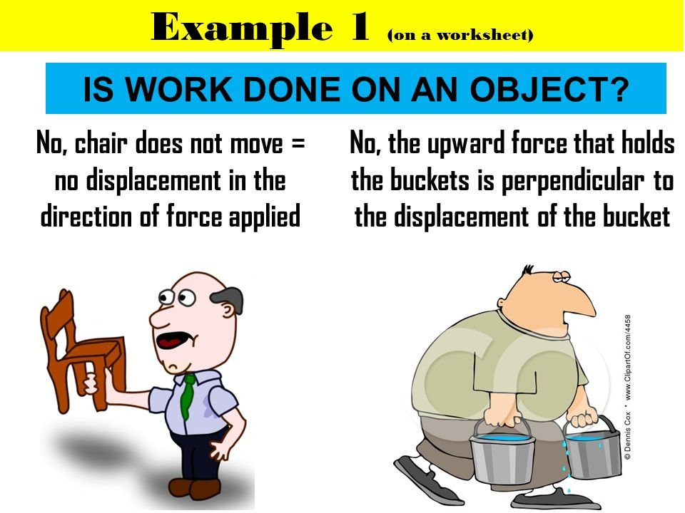 IS WORK DONE ON AN OBJECT