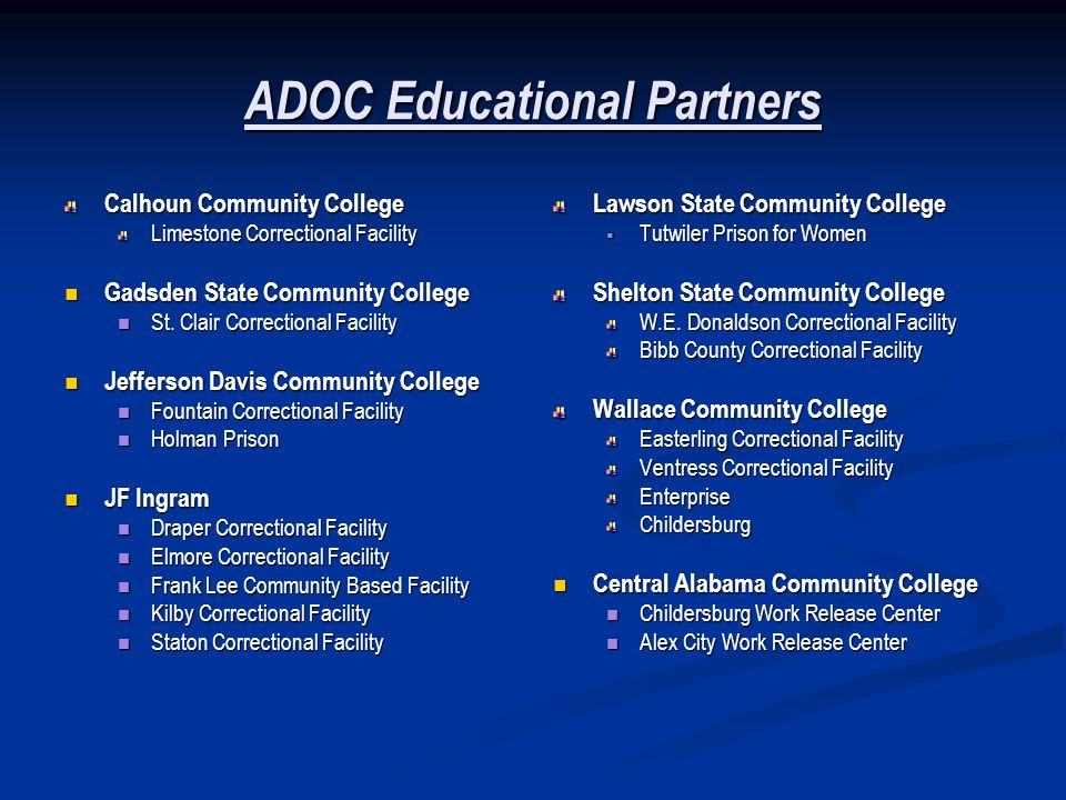 ADOC Educational Partners