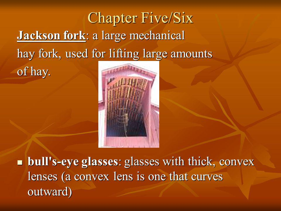 Chapter Five/Six Jackson fork: a large mechanical