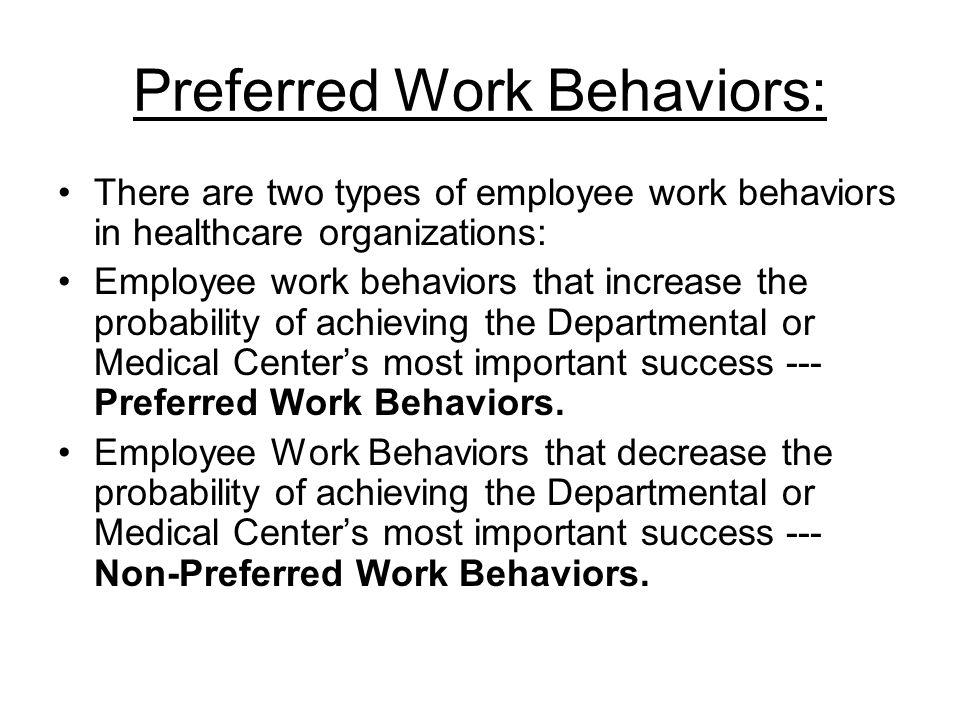 Preferred Work Behaviors: