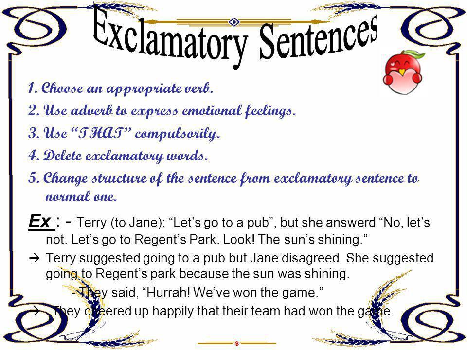 Exclamatory Sentences
