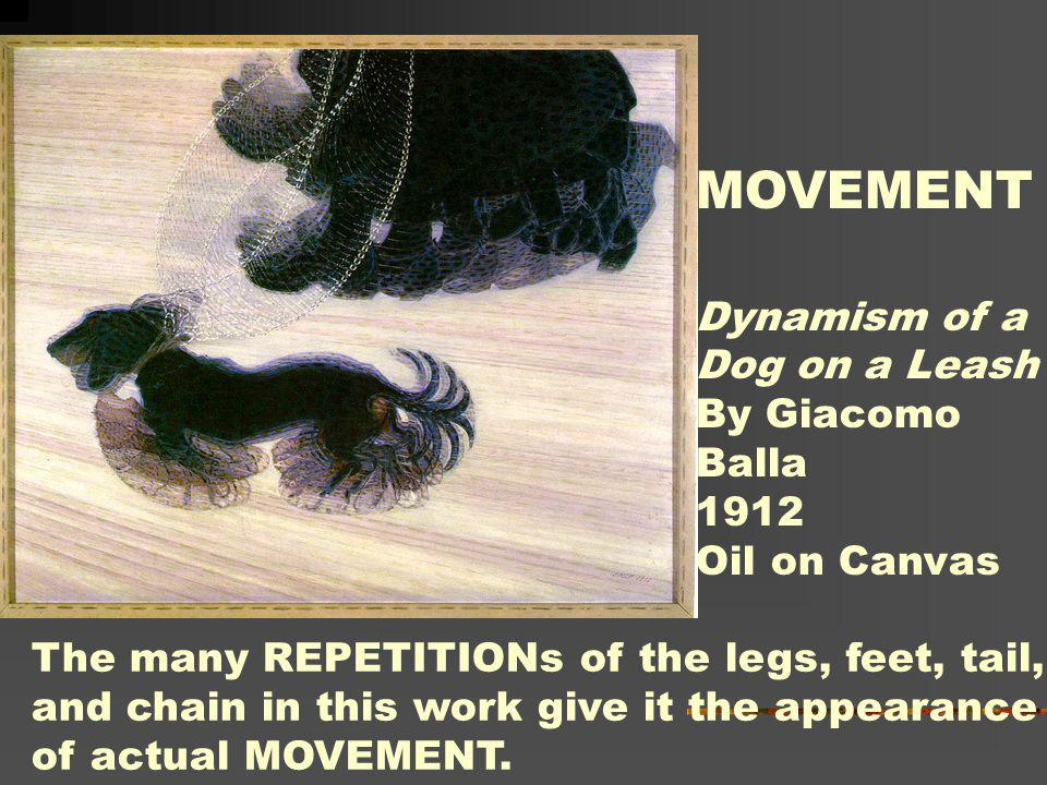 MOVEMENT Dynamism of a Dog on a Leash By Giacomo Balla 1912