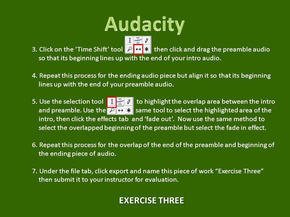 Audacity EXERCISE THREE