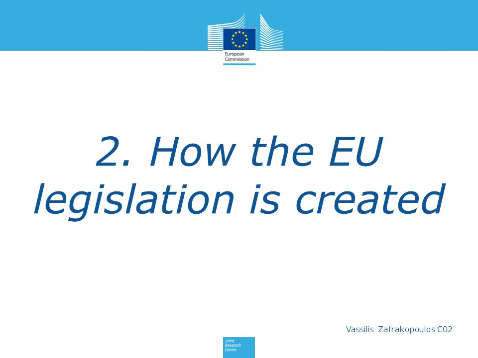 2. How the EU legislation is created