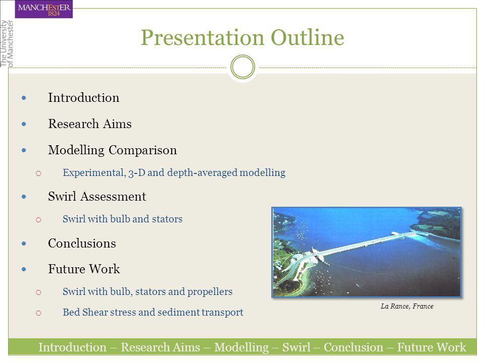 Presentation Outline Introduction Research Aims Modelling Comparison