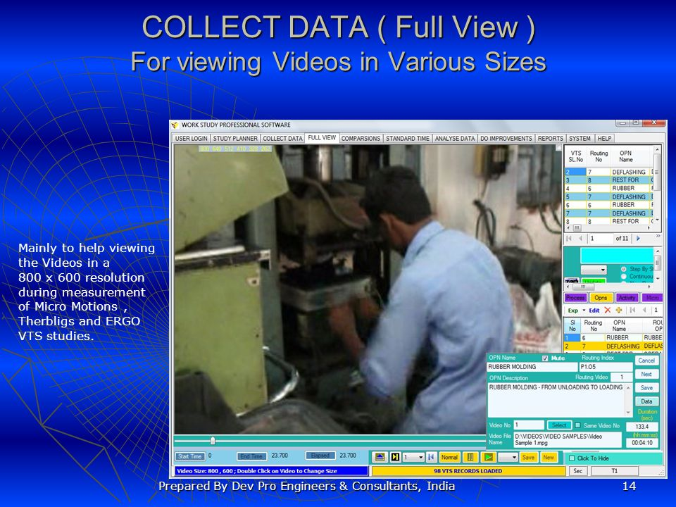 COLLECT DATA ( Full View ) For viewing Videos in Various Sizes