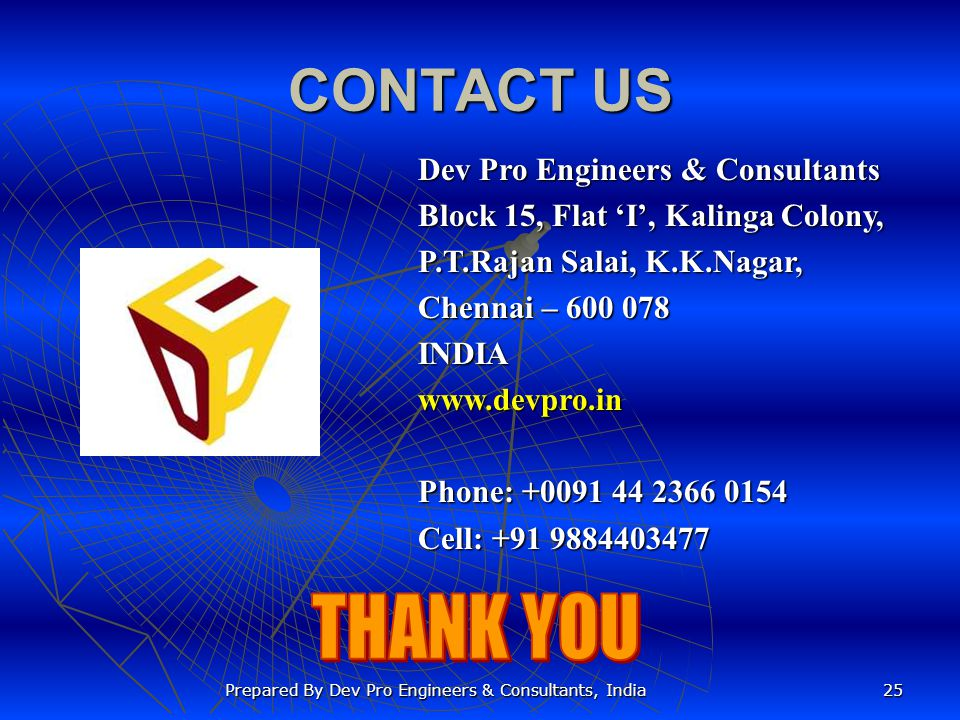 Prepared By Dev Pro Engineers & Consultants, India