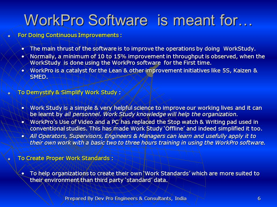 WorkPro Software is meant for…
