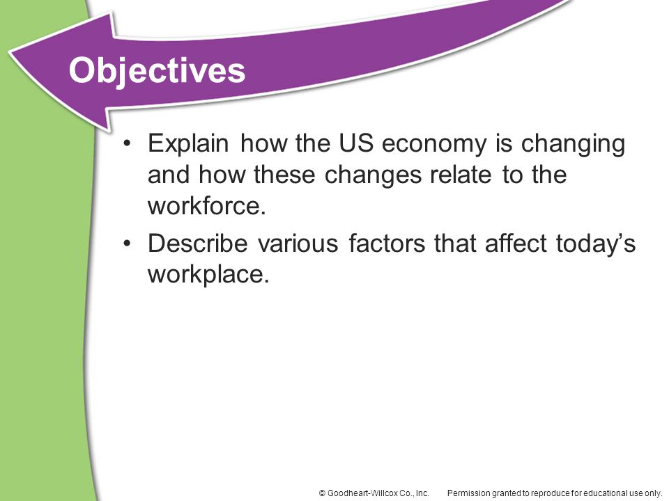 Explain how the US economy is changing and how these changes relate to the workforce.