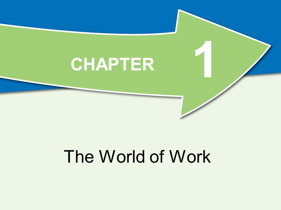 1 The World of Work