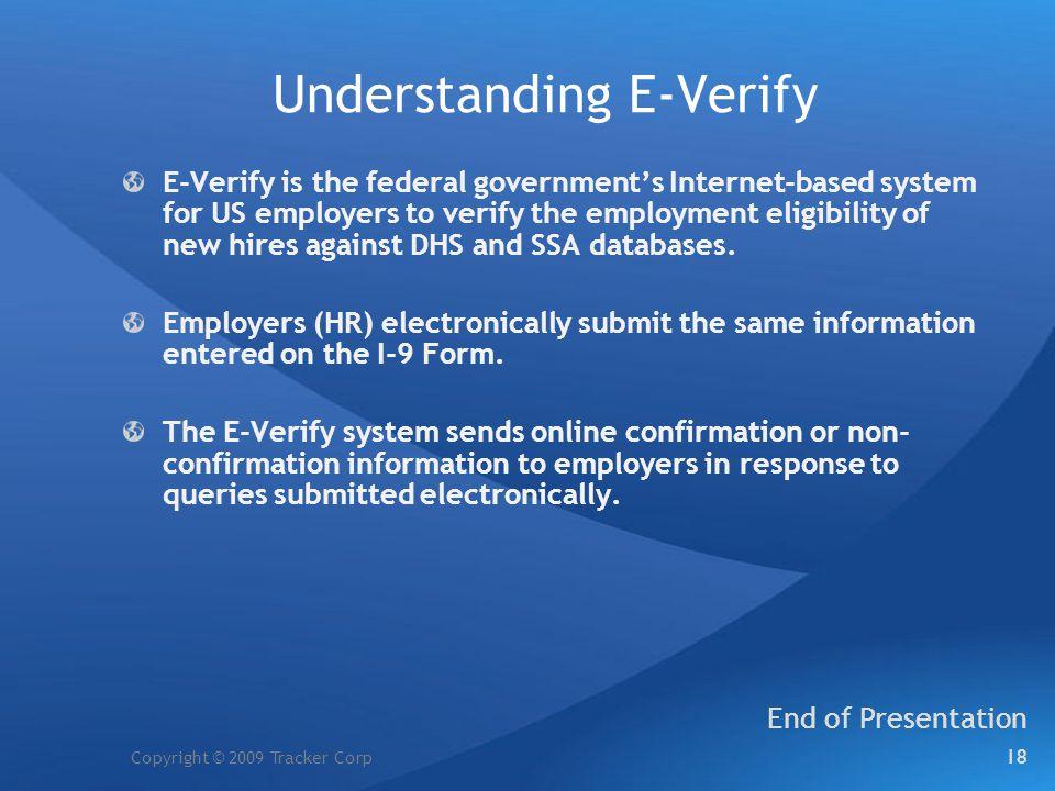 Understanding E-Verify