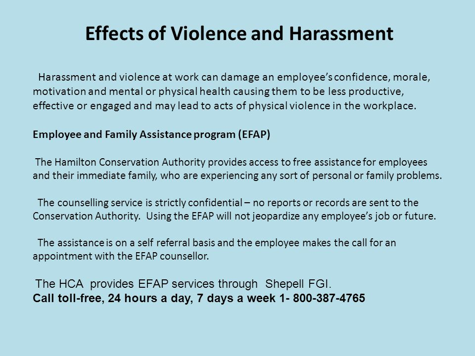 Effects of Violence and Harassment