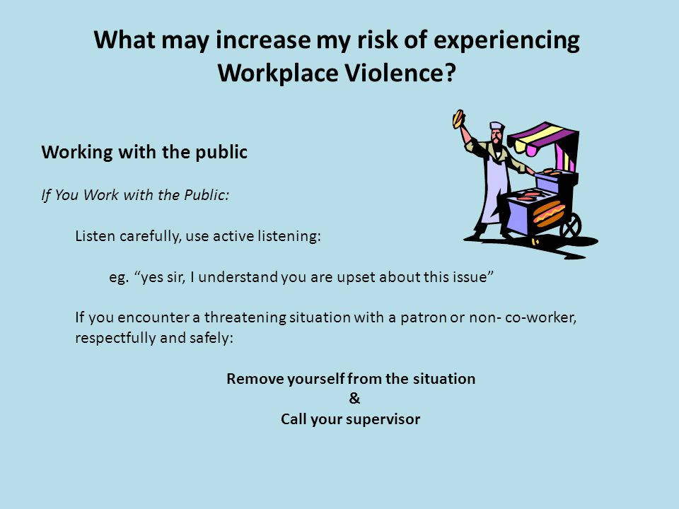 experiencing violence in the workplace essay Nursing workplace incidence of violence essay examples  have a much  greater chance of experiencing negative stress and are more likely to experience .