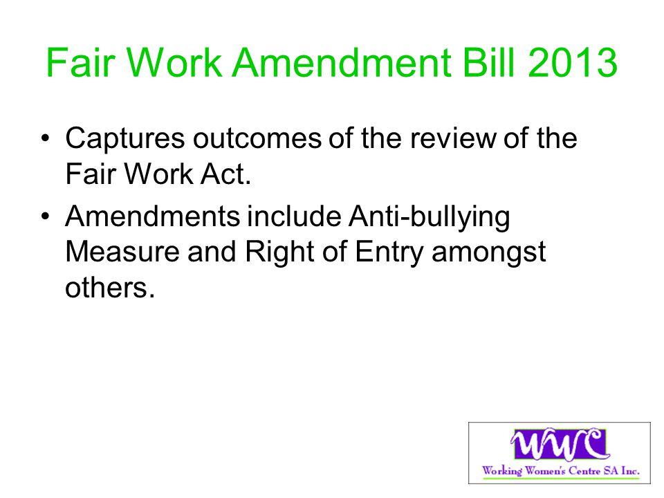 Fair Work Amendment Bill 2013