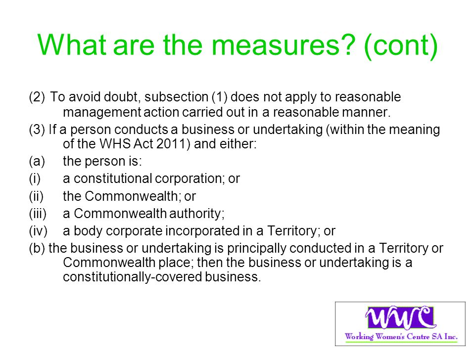 What are the measures (cont)