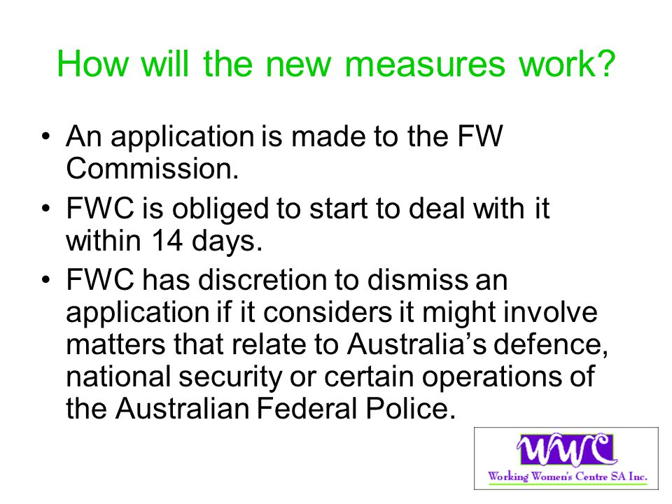 How will the new measures work