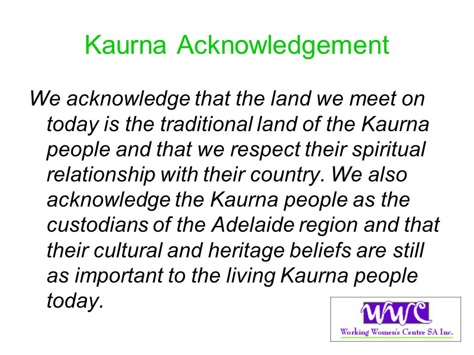 Kaurna Acknowledgement