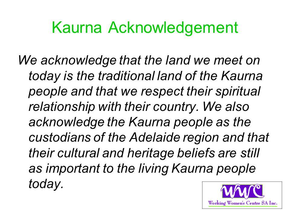 Kaurna Acknowledgement
