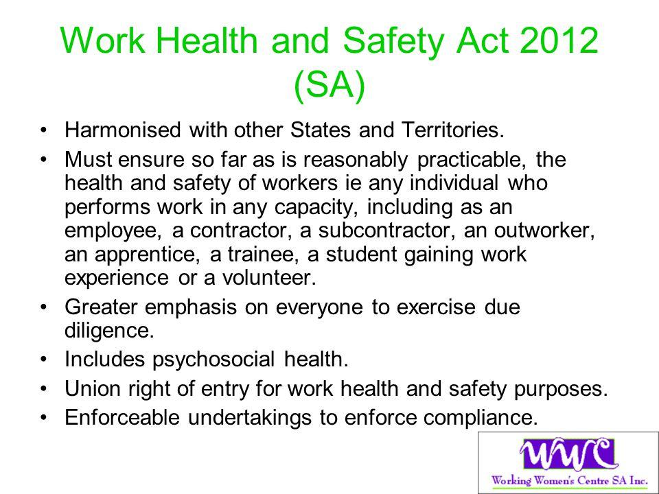 Work Health and Safety Act 2012 (SA)