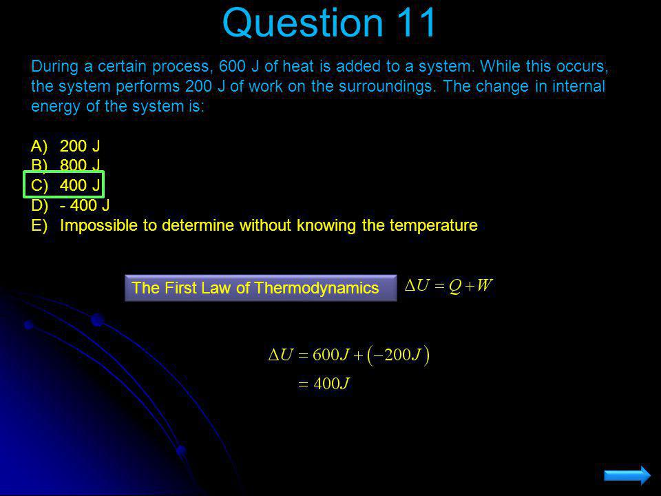 first law of thermodynamics example problems
