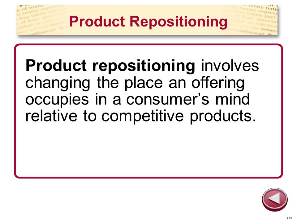 Product Repositioning